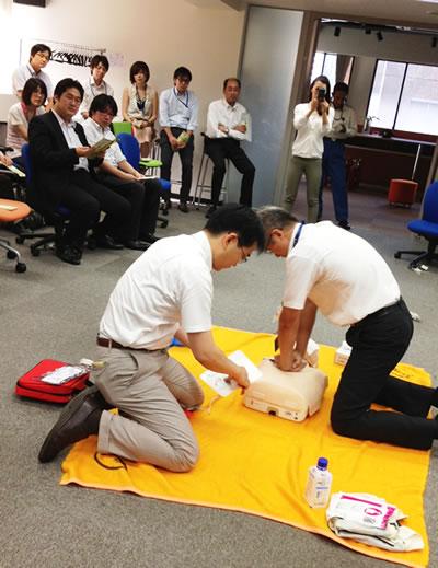3組が救命・AED実習を行いました